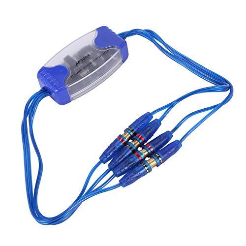 Hrsptudorc Isolatore di Loop di Messa a Terra a 4 canali RCA Input Line Line Sound Eliminator Filtro antirumore per autoradio