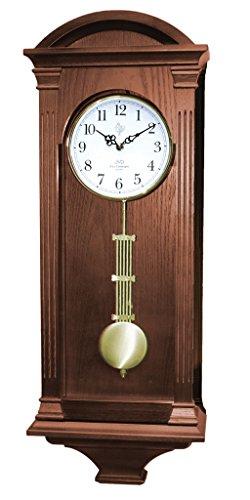 9317 Orologio a pendolo in legno da parete con movimento al quarzo suoneria wenstminster