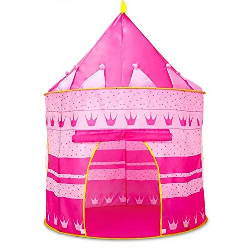 GG-game tent Castillo de los niños juegan la Tienda de Juego Casa yurtas mongolas Tipi Tienda de campaña Cubierta al Aire Libre Jardín Juguetes de Playa Teatro para Niños Niñas Princesa Príncipe Rosa