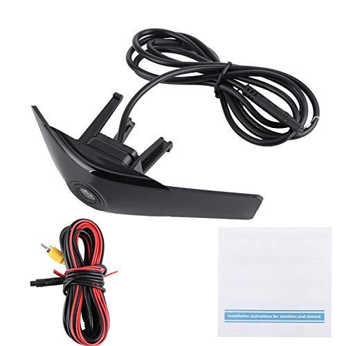 FOTABPYTI Monitor de estacionamiento, cámara de visión Frontal Negra, Amplio Rango de visión Imágenes claras para automóviles