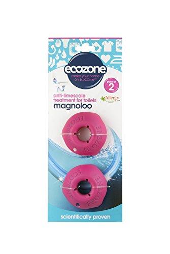 Ecozone Magnoloo Lot de 2 pastilles anticalcaire pour toilettes