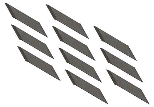 Gedotec Profi Skalpell Ersatzklingen Cutterklingen DB-48 für Cuttermesser KDS D-12 | Japanklinge extrem scharf | KDS - MADE IN JAPAN | 48 Stück - Zeichen & Bastel-Klingen für Profi & Hobbymesser