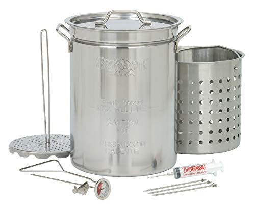 Bayou Classic 1118 32-Quart Stainless Steel Turkey Fryer (Renewed)