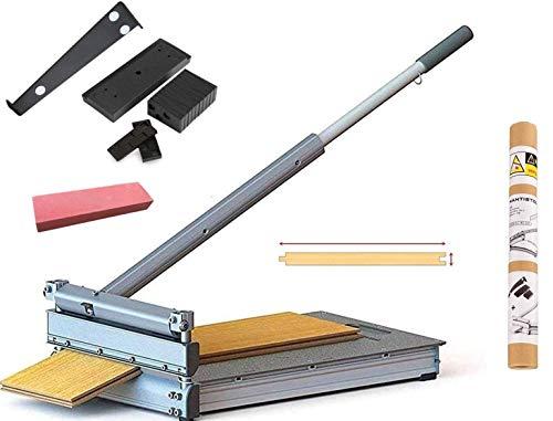 MANTISTOL Schnittbreite 330 mm der Laminatschneider MC-330 - Vinylschneider - Parkettschneider inkl. 2 Klingen und Teleskophebel und 22teiligem Verlege Set