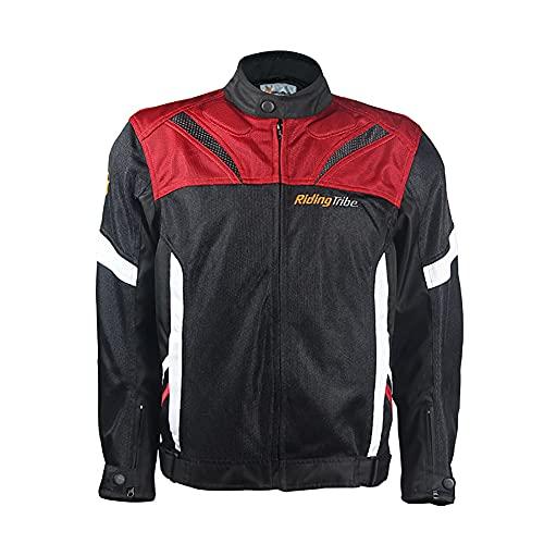 LITI Chaqueta de moto textil para hombre, de verano, CE blindado, scooter, ciclomotor, ultraligera, de ventilación