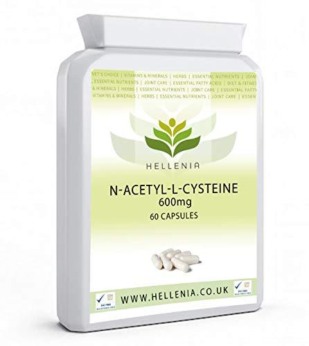 Hellenia N-Acetyl-L-Cysteine 600mg - 60 Capsules