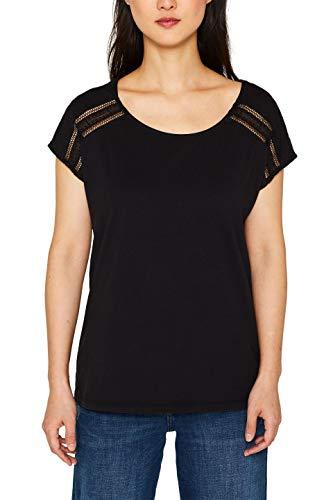 edc by ESPRIT Damen 079Cc1K010 T-Shirt, Schwarz (Black 001), X-Small (Herstellergröße: XS)