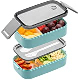 Bento Box For Adults Kids - 1600ML All-in-One Stackable Premium Japanese Bento Lunch Box Container...