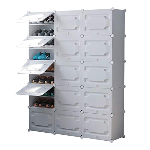 N/Z Home Equipment Portable Shoe Rack Organizer 60 Pair Tower Shelf Storage Cabinet Stand Expandable for Heels Boots Slippers 10 Tier Multi-Functional (Color : White Size : 126x31x158cm)