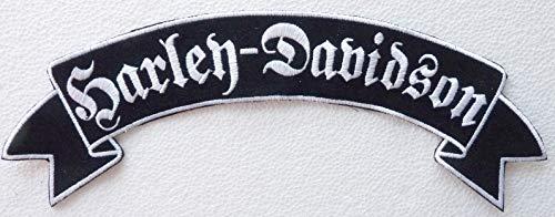 Generico Grande Toppa Patch Pergamena Harley Davidson Lettere Gotiche Colore Argento