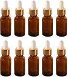 Therapist's Choice 20ml Essential Oil Bottle with Dropper, 10pcs
