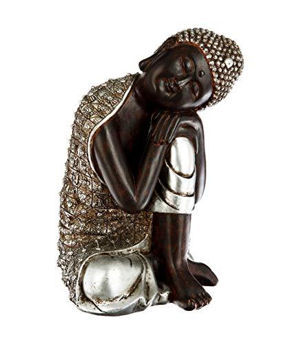 Dreamlight Figurine de Sculpture Moderne en c/éramique Argent 20x18 cm