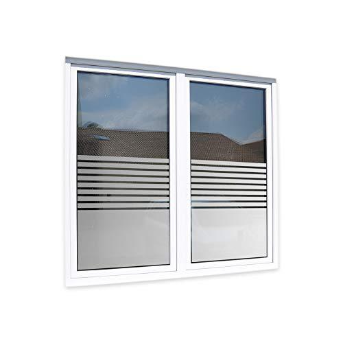 LAVICO|M Fensterfolie Glasdekorfolie Sichtschutzfolie Streifen [Stripes] Sandstrahl-Optik Markenfolie ORAFOL®
