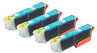 【CLOVERショップ】 EPSON エプソン IC6CL80L 増量タイプ ICLC80L ライトシアン 単品4個セット 互換インクカートリッジ
