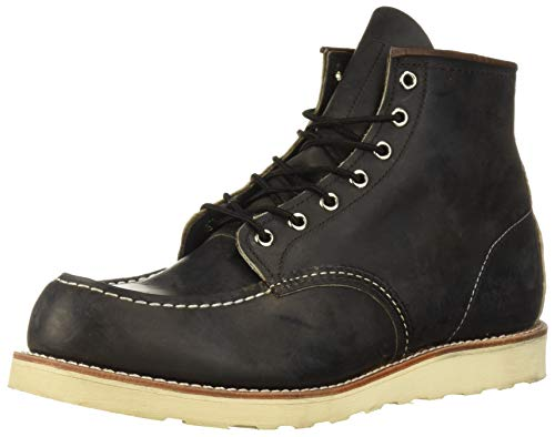 """Red Wing Heritage Men's 6"""" Moc Toe Boot, Charcoal Rough And Tough, 10 M US"""