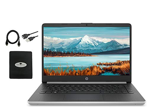 2021 Newest HP 14″ Laptop HD WLED-Backlit Display, 10th Gen Intel Core i3-1005G1(Beat i5-7200U), 16GB RAM, 512GB SSD, WiFi, HDMI, USB-A&C, Fast Charge, Bluetooth, Win10 S, w/Ghost Manta Accessories