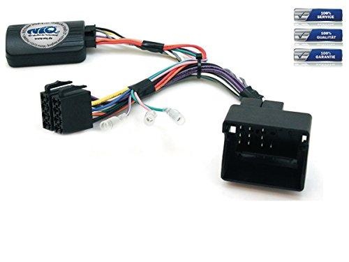 NIQ CAN-BUS Lenkradfernbedienungsadapter geeignet für JVC Autoradios, kompatibel mit Citroen C2 / C3 / C4 / C5 / C8 / Berlingo / DS3