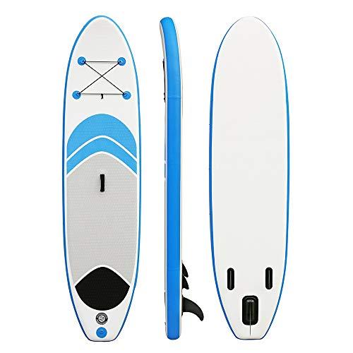 Gfdsase Blow up Paddleboard Doble Color Opcional Stand Up Paddle Board Inflable 15 Cm De Grueso 76CM De Ancho for Jóvenes Y Adultos Conveniente Almacenamiento (Color : Blue, Size : 305x76x15cm)