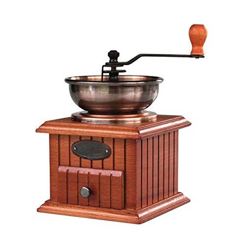 Bureau Moulin à café manuel Moulin à café à main portable Moulin à café en céramique Noyau en céramique Moulin à moudre Petit Graines de noix (Color : Bronze)