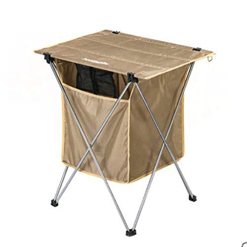 Mesa Camping Plegable Caja de almacenamiento de gran capacidad, mesa plegable de aleación de aluminio al aire libre, Tabla plegable de Camping al aire libre de Camping Al aire libre portátil ultralige