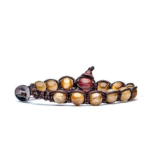 Tamashii bracciale OCCHIO DI TIGRE TIGER EYE originale benedetto dai monaci tibetani budda buddismo