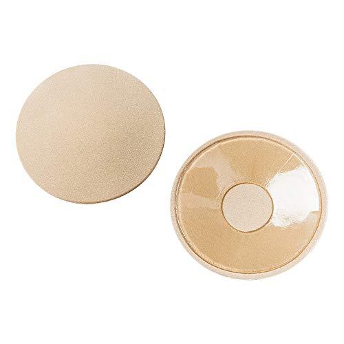 ZEVONDA Copricapezzoli Adesivi Invisibile per Donne - Copri Capezzoli in Silicone Riutilizzabili Nipple Cover, Circolare & Floreale, Forma di Rotonda