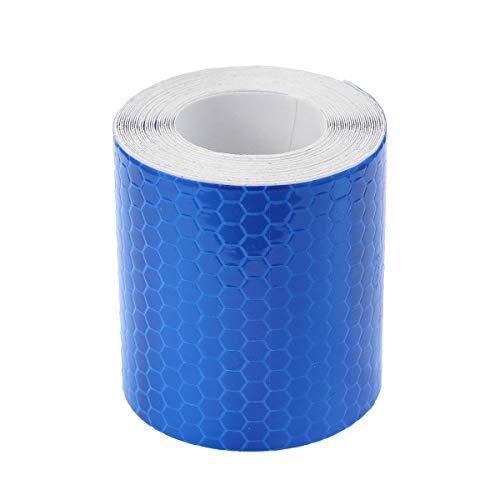 VOSAREA 3m Auto Reflektorband Selbstklebend Warnklebeband Warnband Reflektierend Band Klebeband für Sicherheit Warnung LKW Motorrad Fahrrad Nacht Reflektor Streifen Tape (Blau)