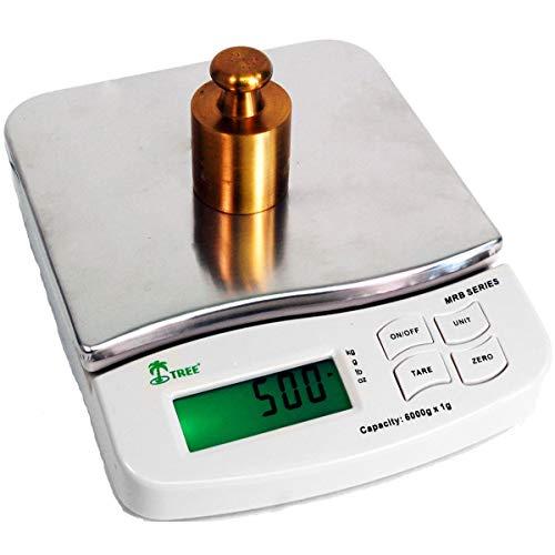 1200 gram x 0.1 gram / 2.64 LB mid resolution digital bench balance scale 6x7 inch platform Gun Powder Gold Jewelry