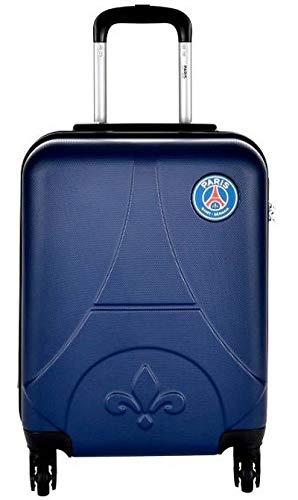 Maleta reforzada para cabina oficial del PSG Paris Saint-Germain de 4 ruedas y asa telescópica, color azul