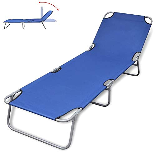 YAOBAO Sun Lounger Folding Reclining Relaxer Chair, Deck Chair Rocking Recliner Garden Bed Reclining Chair, Ideal for Patio Back Garden Camping Picnic Beach Outdoor Relaxing