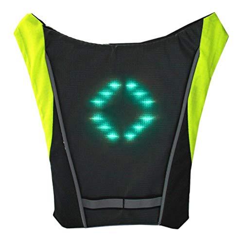 lennonsi Blinker Rucksack 30 LED Fahrrad Schulter Rucksack, Sicherheits Rucksack Mit LED Drahtlose Fernbedienung Warnlichter, Mit Fernbedienung Nice