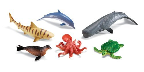 Learning Resources Jumbo Ocean Animals I Octopus  Whale  Shark  Sea Turtle  Seal  and Dolphin  6 Animals Multicolor 12 W in