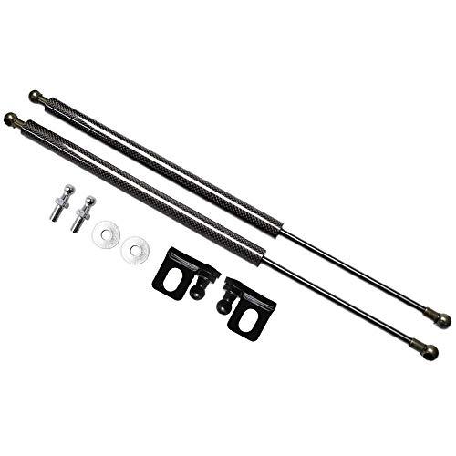 WQQWQQ Resorte de Gas Amortiguador, para FIAT 500x 2014-2020 Front Bonnet Hood Modify Modify Gas Spring Lift Admite Struts Shocks Damper, de Resorte de Gas,WQ11K (Color : Black Carbon Fiber)