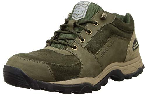 Woodland Men's Leather Sneaker (OGC 3608119_Olive Green)