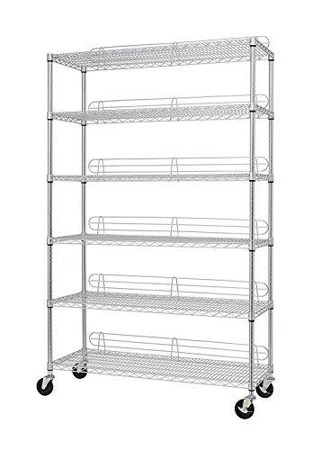 TRINITY NSF 6-Tier Wire Shelving Rack, 48'x18'x72'