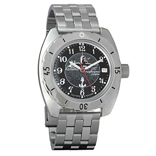 Vostok Amphibian Reloj de pulsera automático para hombre con cuerda automática, para buceador militar, anfibia, caja #150831