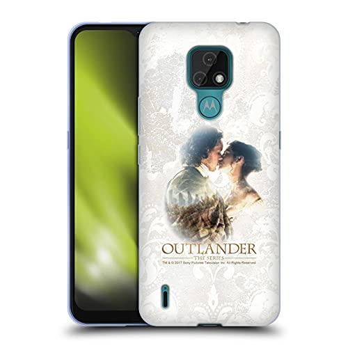 Head Case Designs Licenza Ufficiale Outlander Claire E Jamie Bacio Primi Piani Cover in Morbido Gel Compatibile con Motorola Moto E7