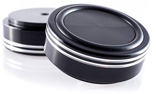 Hifi Lab Aluminium Füße massiv 44x17 schwarz Alu Geräte-Füße Audio Absorber edel 4X