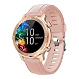 gandley Smart Watch for Android iOS Fitness Tracker Waterproof IP68 Blutooth Round SmartWatch