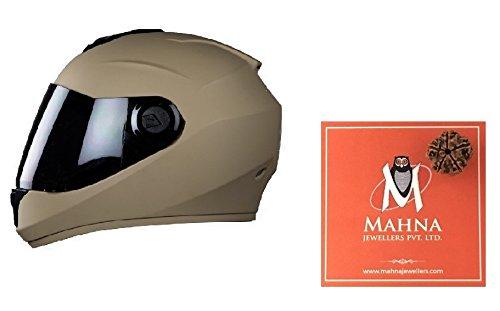 Steelbird Hunk Full Face Helmet with MJ Brand 5 mukhi Rudraksh (Desert Strom, M)