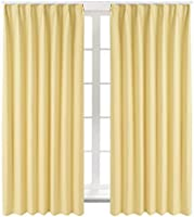 Bedsure カーテン 1級遮光 小窓 ドレープカーテン 幅100cm丈178cm 2枚組 断熱 保温 省エネ おしゃれ 昼夜目隠し 遮光カーテン 高級感のある生地 リビングルーム