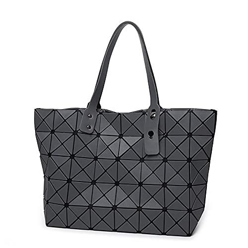 QIANJINGCQ New all-match matte ladies high-capacity fashion handbag classic cool folding shoulder bag backpack