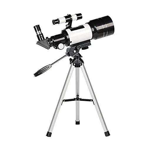 Ctzrzyt Telescopio AstronóMico F300, Apertura de 70 Mm, Monocular de RefraccióN AstronóMica de Longitud Focal de 300 Mm, con Soporte para TeléFono MóVil