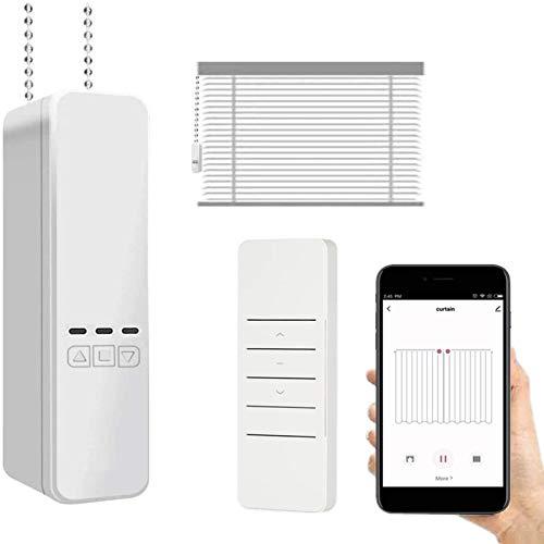 JINQII Controlador del Motor de Las persianas Inteligentes - Alimentación por batería Controlador de persianas WiFi Compatible con Alexa Google Home, Control de Voz a Distancia de la aplicación
