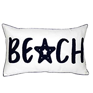 DECOPOW Embroidered Nautical Decor Pillow Covers,S...