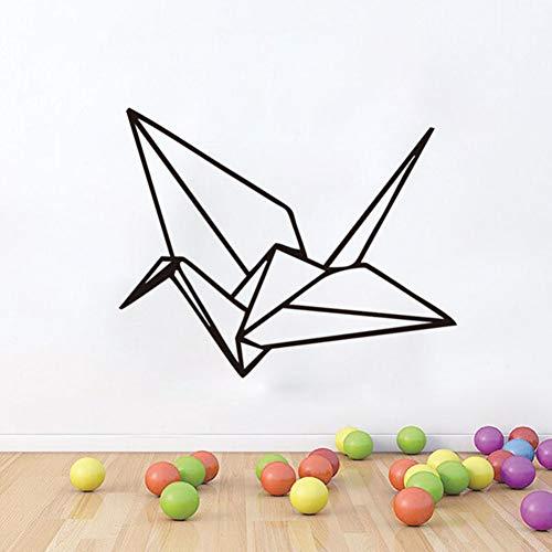 SS Etiqueta de la Pared Origami mil grullas de Papel Creativo extraíble Etiqueta de la Pared Tallada 45 * 36cm