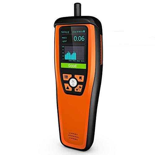 Temtop M2000C Monitor de calidad del aire para PM2.5 PM10 Partículas Temperatura CO2 Humedad configurable Alarma de audio Grabación Curva Fácil Calibración, ✩Garantía de tres años✩