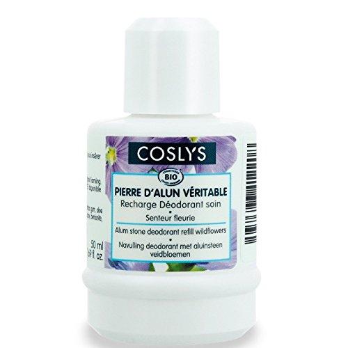 Coslys cuidado del cuerpo desodorante piedra de alumbre de potasio flores de los Campos recarga 50ml