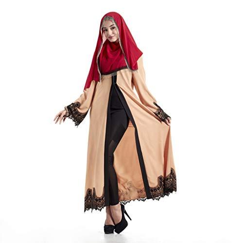Amphia - Elegante moslemische Abaya-Kleidwolljacke-Robe-türkische islamische Gebets-Kleidung Hijab - Frauenkleidung der moslemischen Retro-Robenwolljacke der Frauen