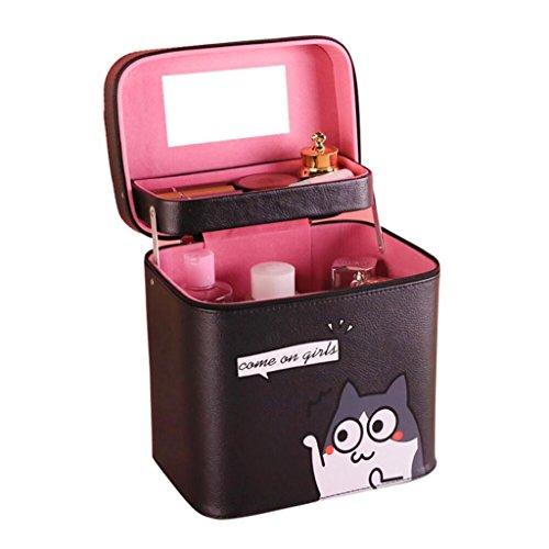 Cosmetische Organisatoren Met spiegel Draagbare Multilayer Reistassen Cosmetische tas Cosmetische koffer Cosmetica opbergdoos
